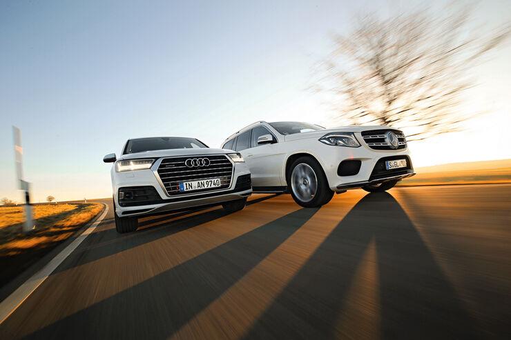 Audi Q7 3.0 TDI Quattro, Mercedes GLS 350 d 4Matic