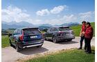 Audi Q7 3.0 TDI Quattro, Volvo XC90 D5, Heckansicht