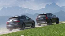 Audi Q7 3.0 TDI Quattro, Volvo XC90 D5, Seitenansicht