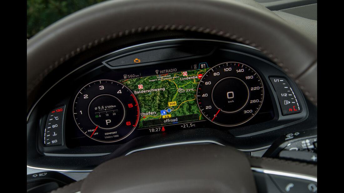 Audi Q7 3.0 TDI, Rundinstrumente