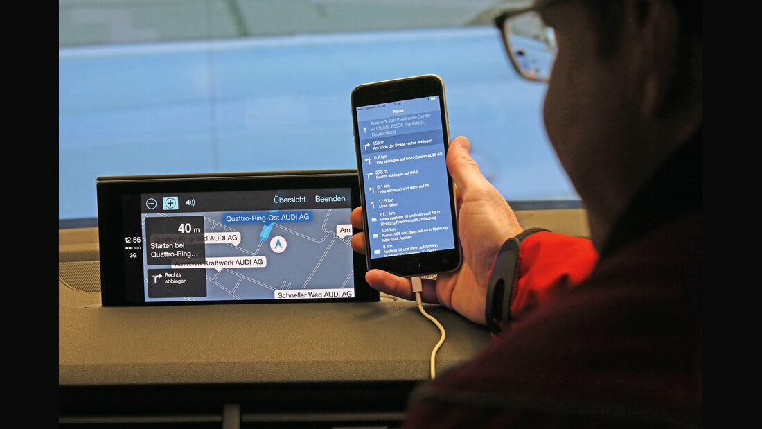 Audi Q7, Handyanbindung, Infotainment