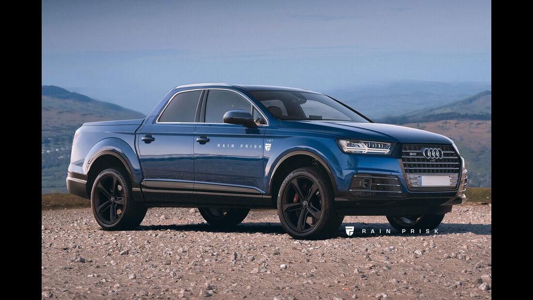 Audi Q7 Pickup - Design-Konzept - Grafikkünstler Rain Prisk