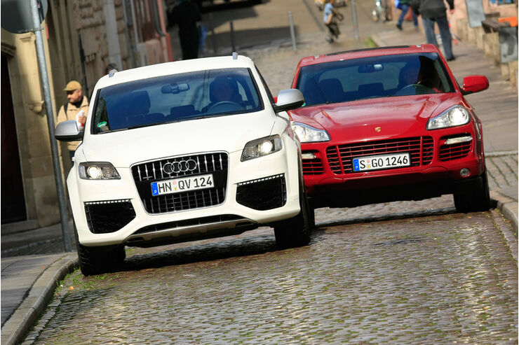 Audi Q7 V12 TDI, Porsche Cayenne Turbo S