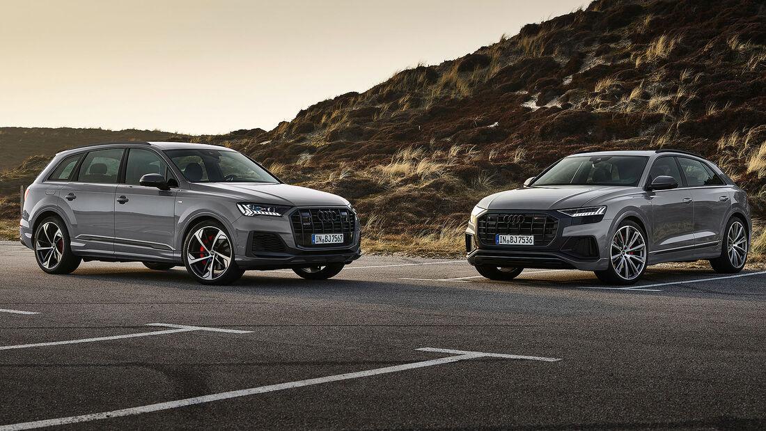 Audi Q7 und Q8 S Line Competition Plus
