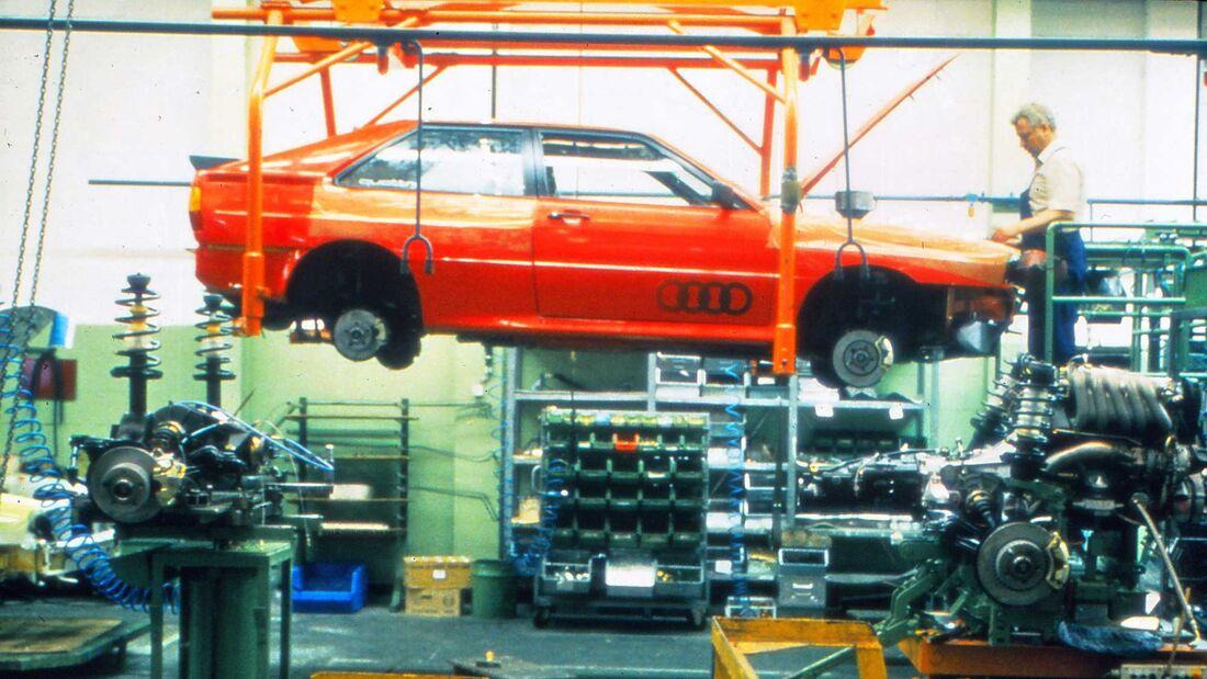 Audi Quattro (1980) Produktion
