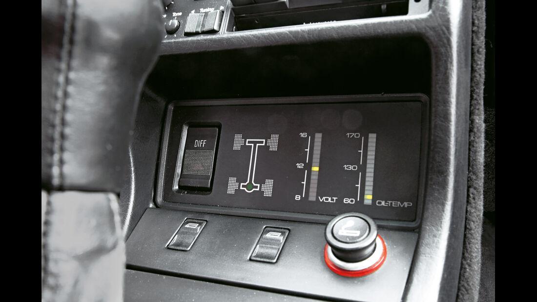Audi Quattro, Anzeigeinstrumente