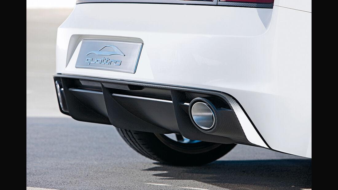 Audi Quattro Concept, Auspuff, Diffusor