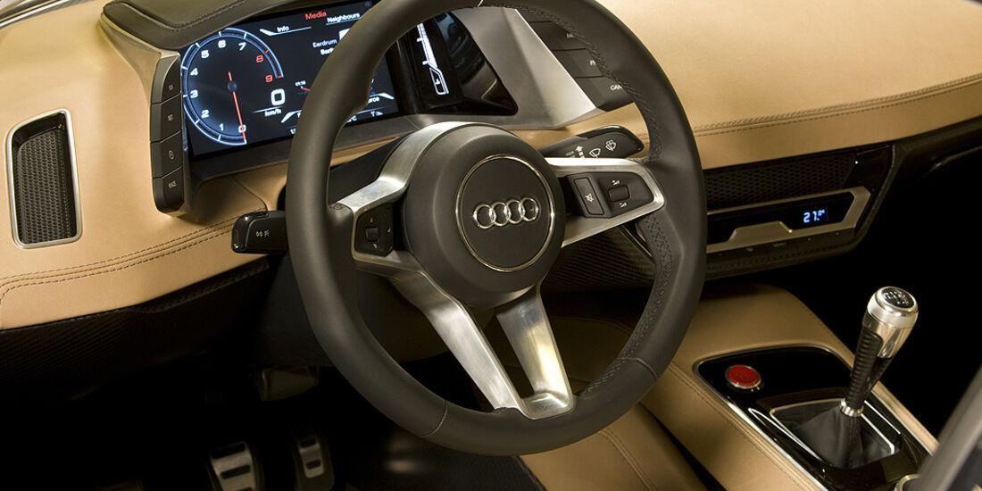 Audi Quattro Concept, Innenraum, Lenkrad