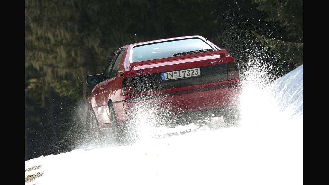 Audi Quattro, Heckansicht