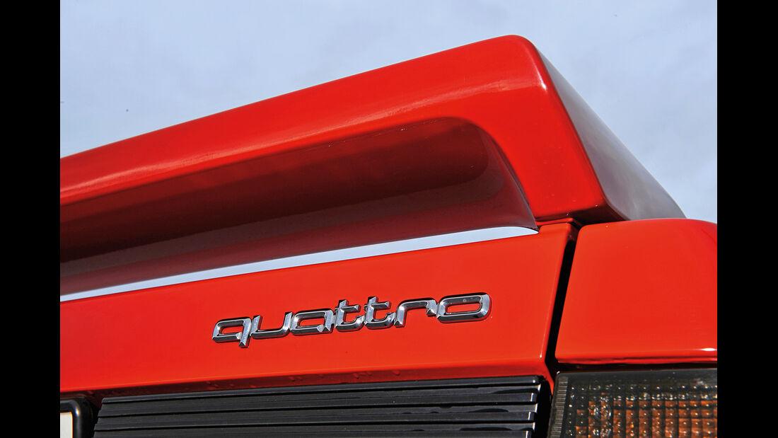 Audi Quattro, Heckflügel