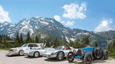 Audi Quattro Pikes Peak, BMW 700 RS, Porsche RS60, Bugatti T37