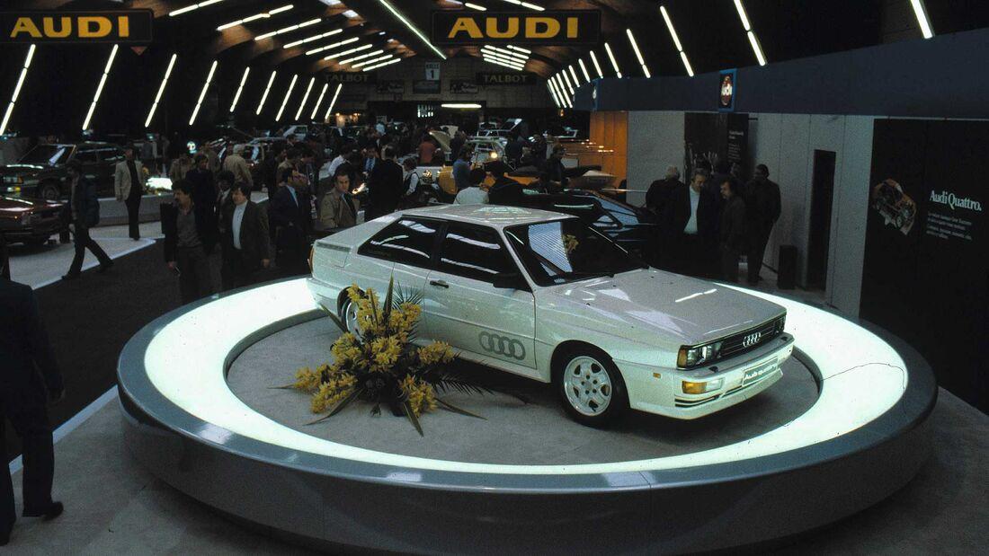Audi Quattro Premiere Genfer Auto Salon 1980