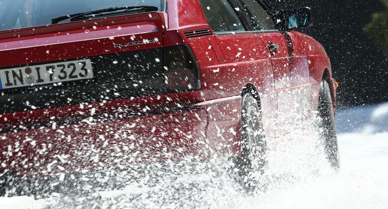 Audi Quattro, Schnee, Impression