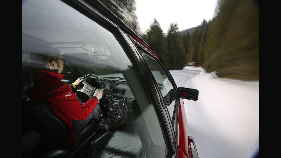 Audi Quattro, Seitenführung, Fahrt