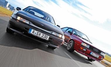 Audi Quattro, Subaru SVX, Frontansicht