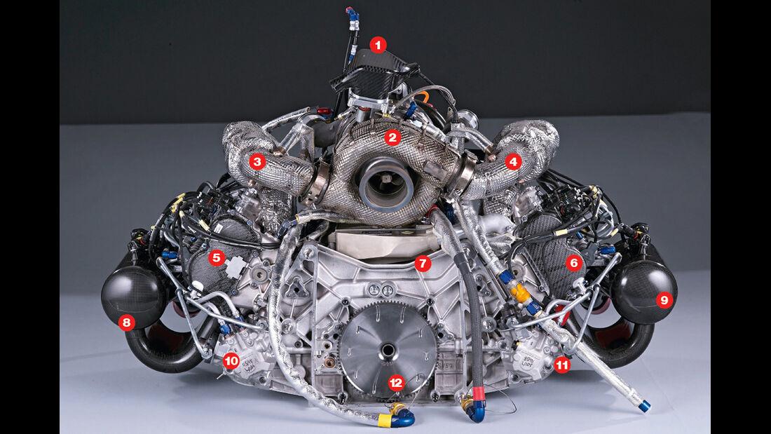 Audi R18 e-tron quattro, Motor