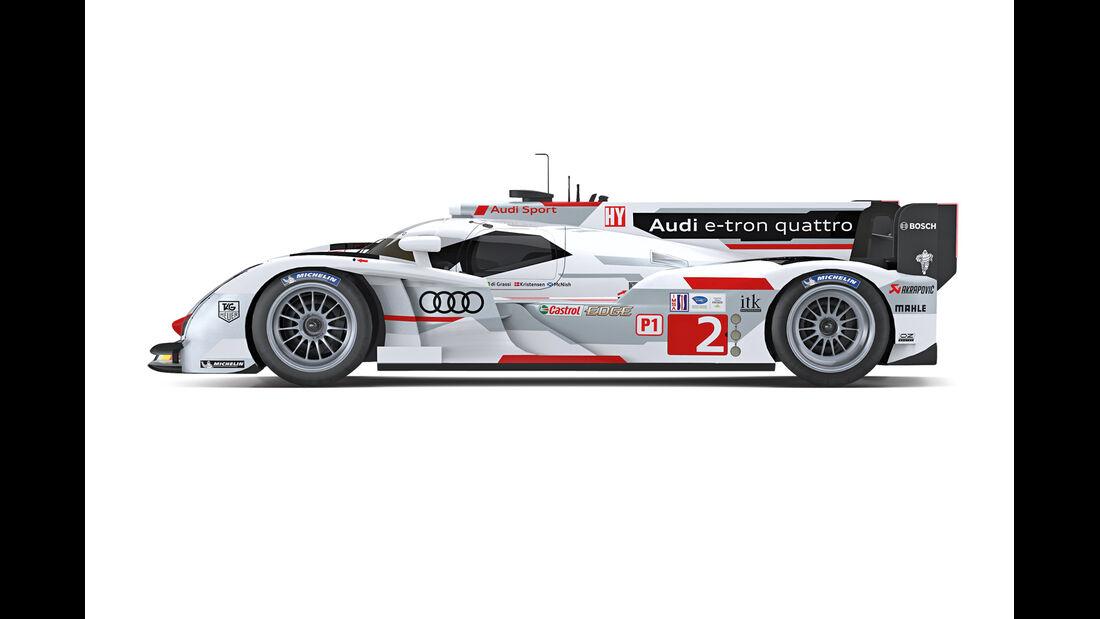 Audi R18 e-tron quattro, Seitenansicht