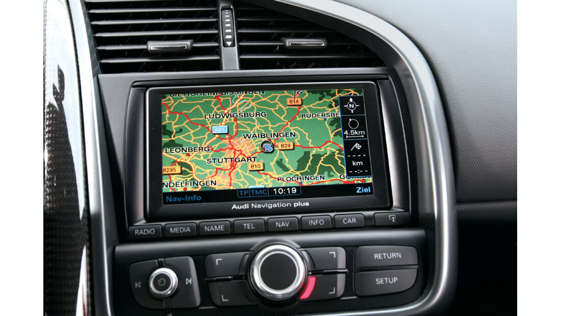 Audi R8 4.2 FSI Quattro, Navi-Display