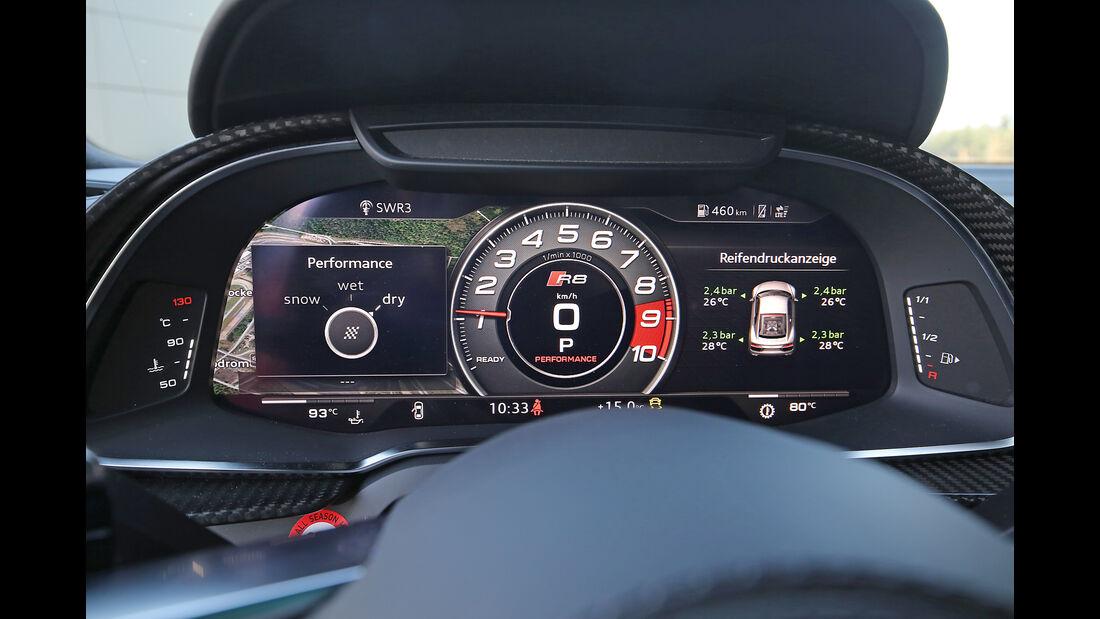 Audi R8 5.2 FSI Quattro Plus, Anzeigeinstrumente