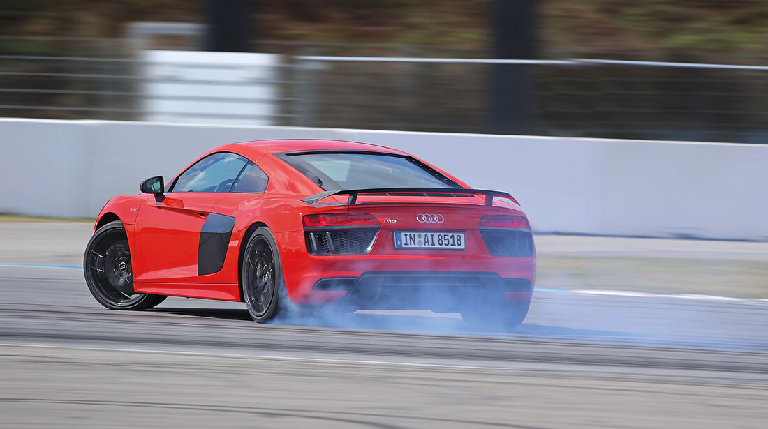 Audi R8 5.2 FSI Quattro Plus, Burnout