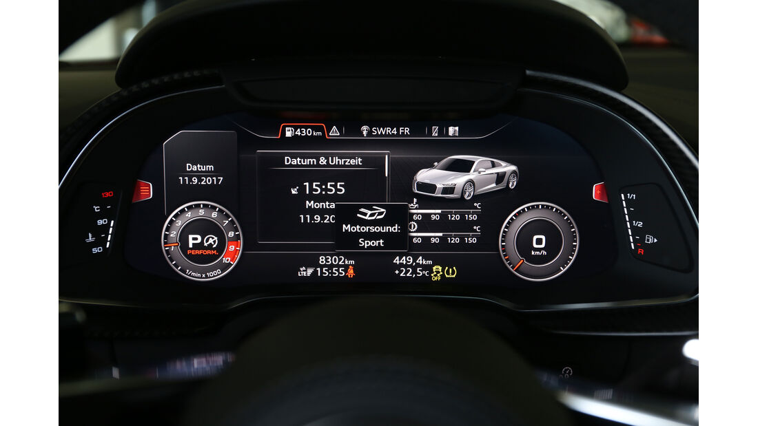 Audi R8 5.2 V10 Plus Quattro (2017) Test