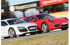 Audi R8 FSI Quattro, Porsche 911 Carrera 4S, Fronthaube