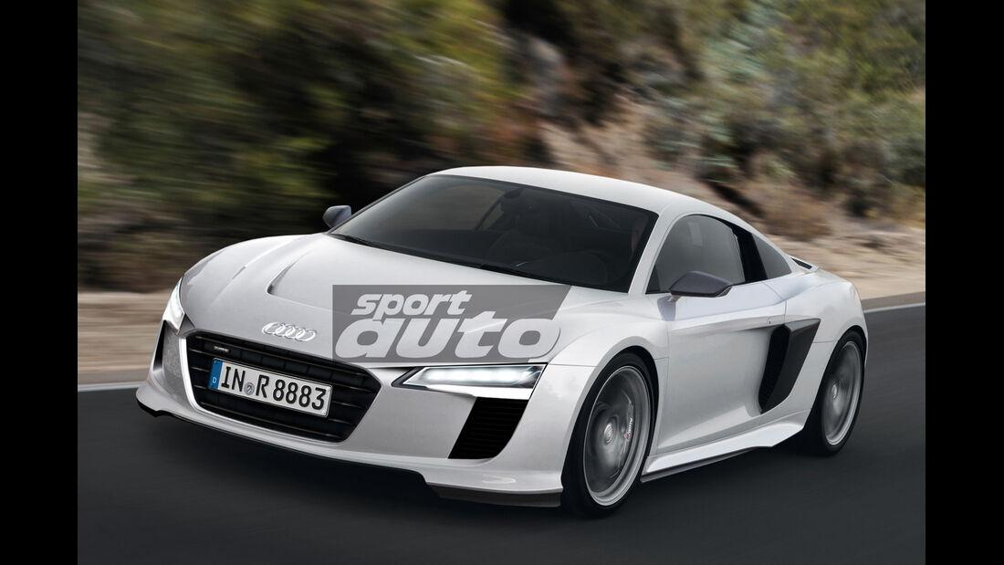 Audi R8, Frontansicht