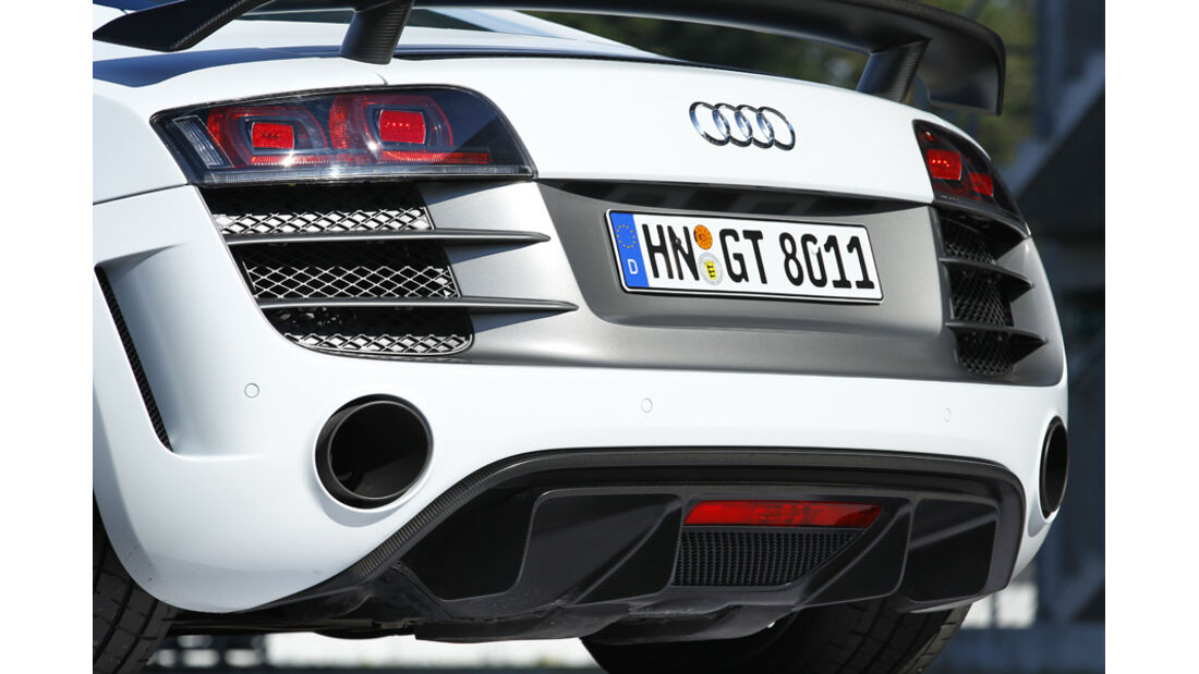 Audi R8 GT, Heck