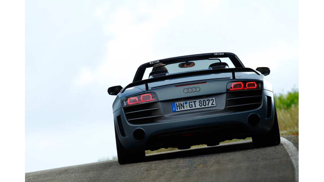 Audi R8 GT Spyder, Heck