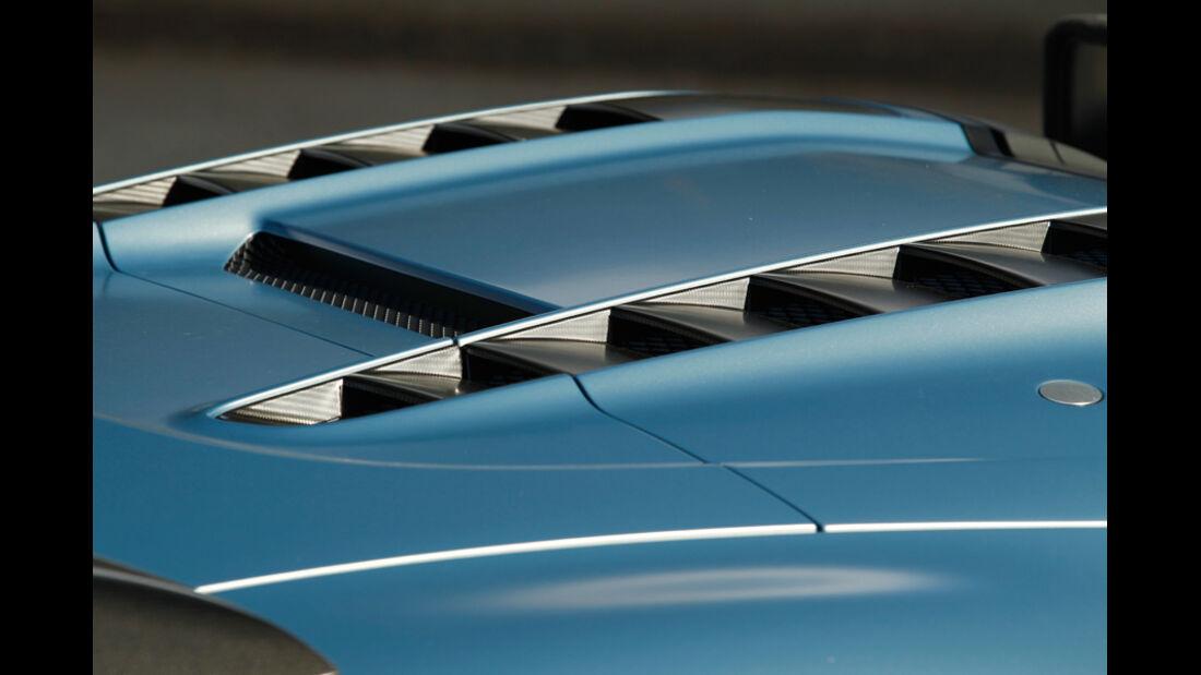 Audi R8 GT Spyder, Luftschlitze, Heckklappe