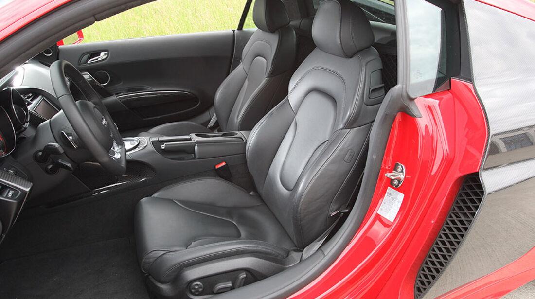 Audi R8, Innenraum, Sitze