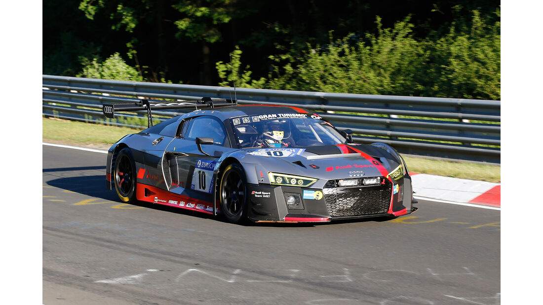 Audi R8 LMS - Audi Sport Team WRT - Startnummer #10 - Top-30-Qualifying - 24h-Rennen Nürburgring 2017 - Nordschleife
