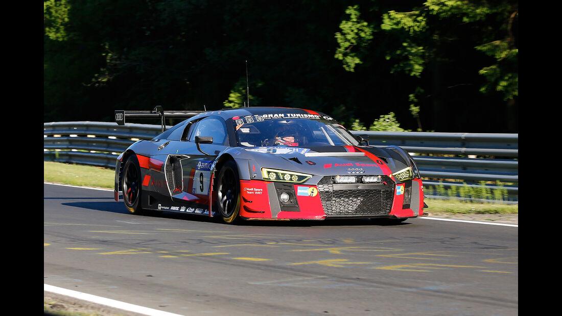 Audi R8 LMS - Audi Sport Team WRT - Startnummer #9 - Top-30-Qualifying - 24h-Rennen Nürburgring 2017 - Nordschleife