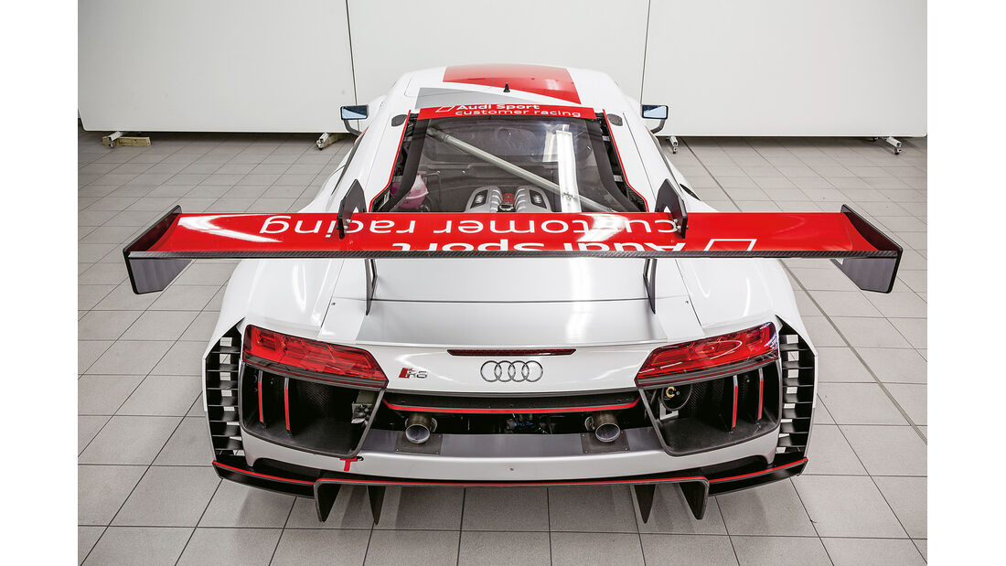 Audi R8 LMS GT3, Heckflügel