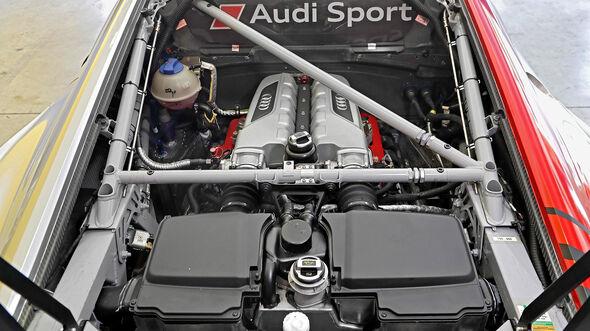 Audi R8 LMS GT3, Motorraum