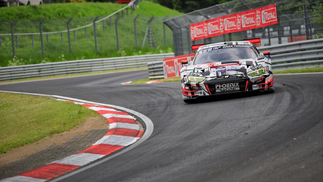 Audi R8 LMS GT3 - Phoenix Racing - Startnummer #5 - Klasse: SP 9 (FIA-GT3) PRO-AM - 24h-Rennen - Nürburgring - Nordschleife - 03. - 06. Juni 2021