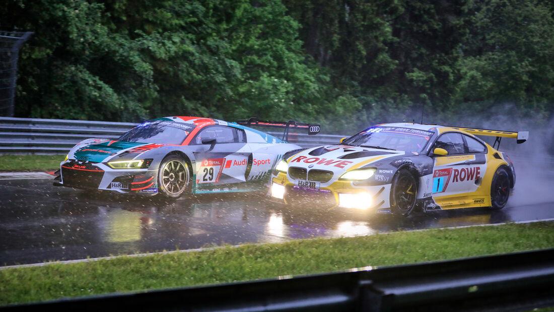 Audi R8 LMS Gt3 - BMW M6 GT3 - Rowe Racing - Audi Sport Team Land - Startnummer 29 - Startnummer 1 - 24h Nürburgring - Nordschleife - 4. Juni 2021