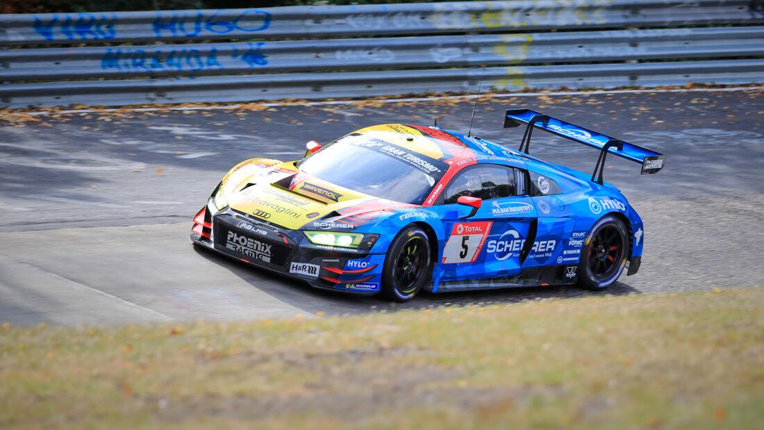 Audi R8 LMS - Phoenix Racing - Startnummer #5 - 24h-Rennen - Nürburgring - Nordschleife - Donnerstag - 24. September 2020
