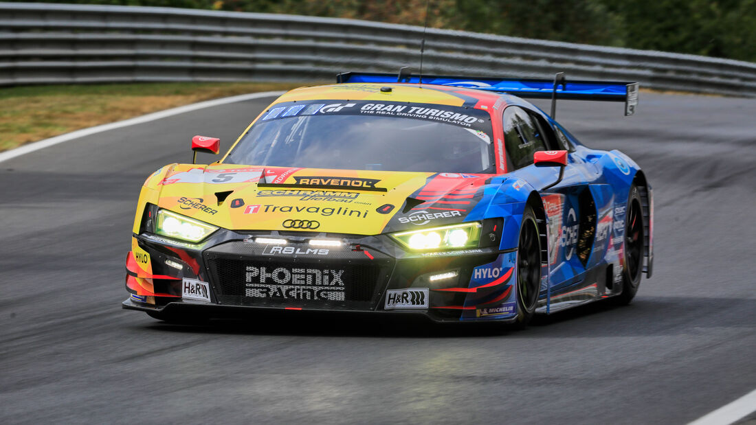 Audi R8 LMS - Phoenix Racing - Startnummer #5 - Klasse: SP9 - 24h-Rennen - Nürburgring - Nordschleife - 24. bis 27. September 2020