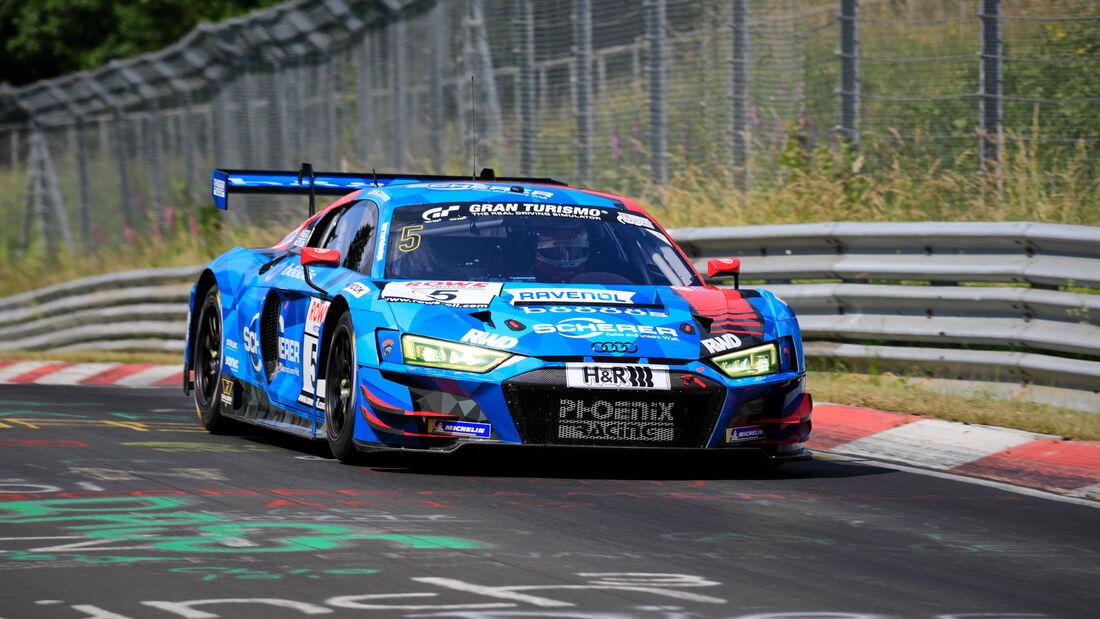 Audi R8 LMS - Startnummer #5 - Phoenix Racing - SP9 Pro - NLS 2020 - Langstreckenmeisterschaft - Nürburgring - Nordschleife
