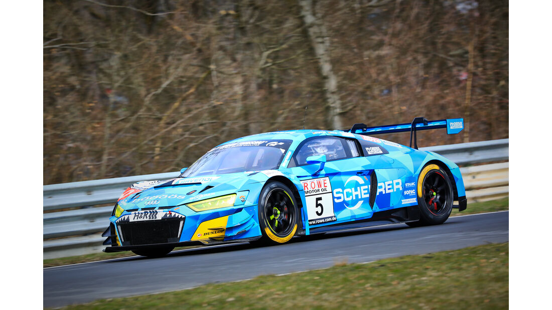 Audi R8 LMS - Startnummer #5 - Phoenix Racing - SP9 Pro - VLN 2019 - Langstreckenmeisterschaft - Nürburgring - Nordschleife