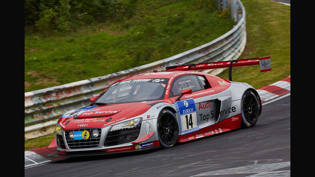 Audi R8 LMS ultra - Audi race experience - Startnummer: #14 - Bewerber/Fahrer: Nikolaus Mayr-Melnhof, Rod Salmon, Micke Ohlsson, Ronnie Saurenmann - Klasse: SP9 GT3