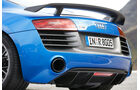 Audi R8 LMX, Heck, Auspuff