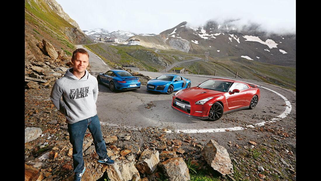 Audi R8 LMX, Nissan GT-R, Porsche 911 Turbo S, Christian Gebhardt