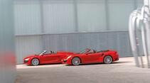 Audi R8 Spyder 5.2 FSI Quattro, Porsche 911 Turbo Cabriolet, Seitenansicht