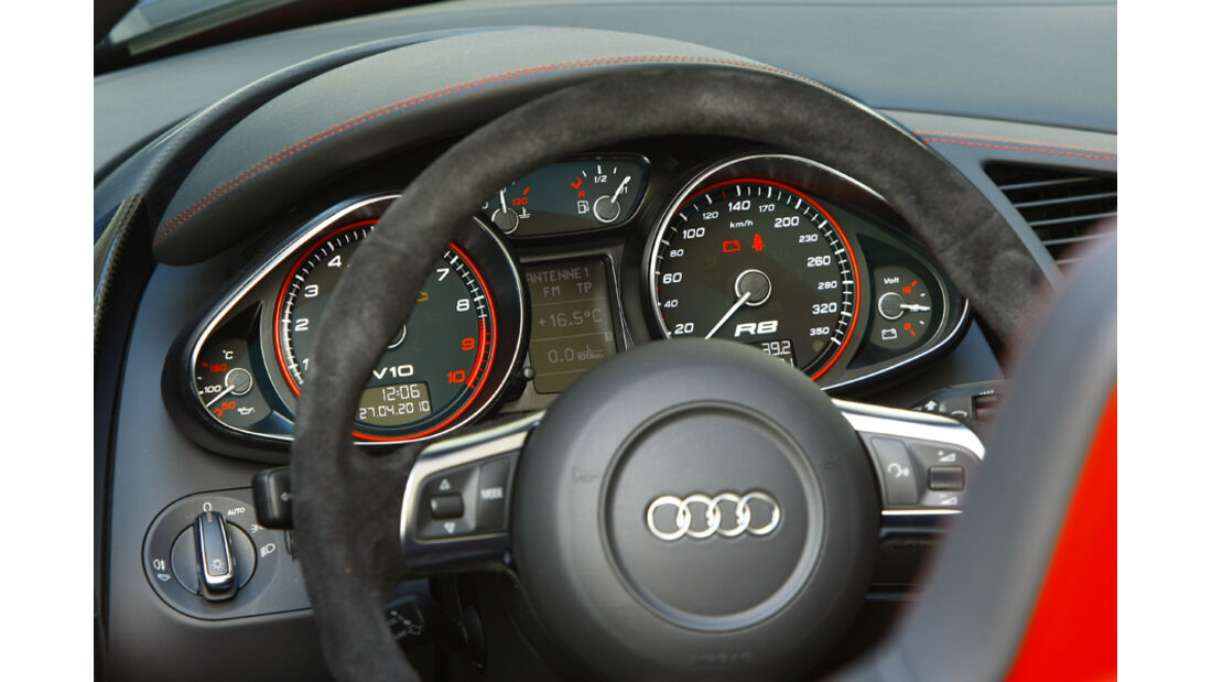 Audi R8 Spyder 5.2 FSI quattro Instrumentenbrett