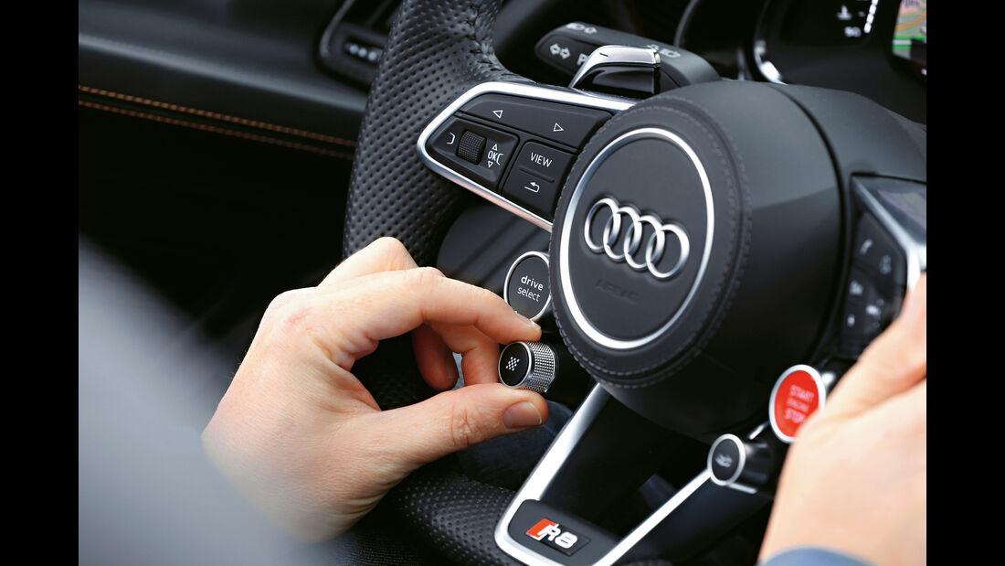 Audi R8 Spyder, Bedienelemente