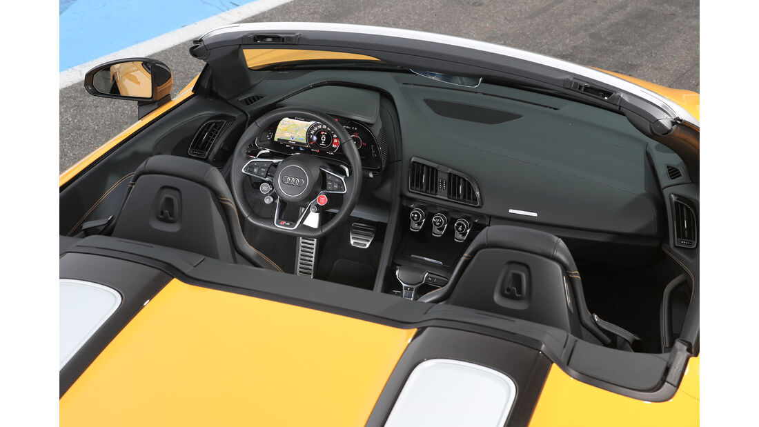 Audi R8 Spyder, Cockpit