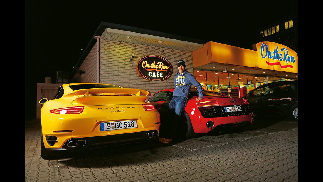 Audi R8 V10 5.2 FSI Quattro, Porsche 911 Turbo, Christian Gebhardt