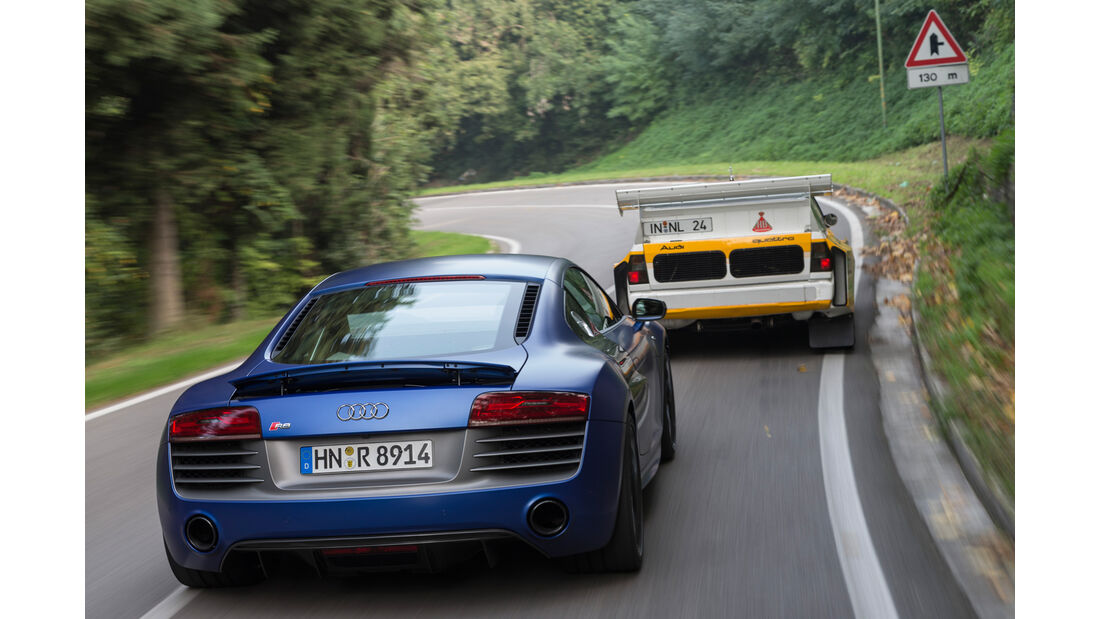 Audi R8 V10 Plus, Audi S1, Heckansicht